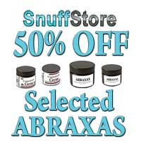 Get 50% off selected Abraxas Premium snuffs.
