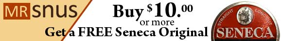 Buy for $10.00 or more and get a free Seneca Original.