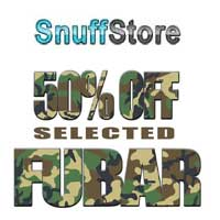 Get 50% off selected FUBAR snuffs.