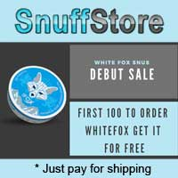 First 100 customers get free White Fox snus!