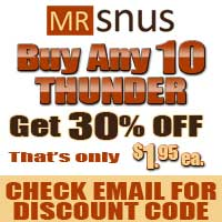30% off Thunder. Buy 10 and get them for only $1.95 ea.